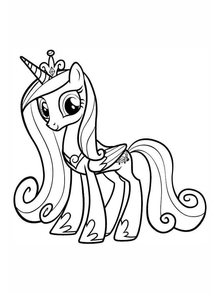 Раскраски Принцесса Каденс. Скачать или распечатать ...