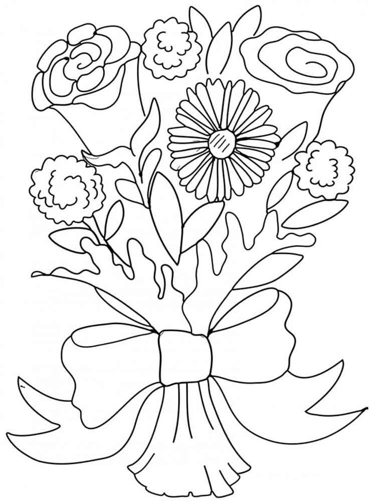 Открытки для раскрашивания цветы