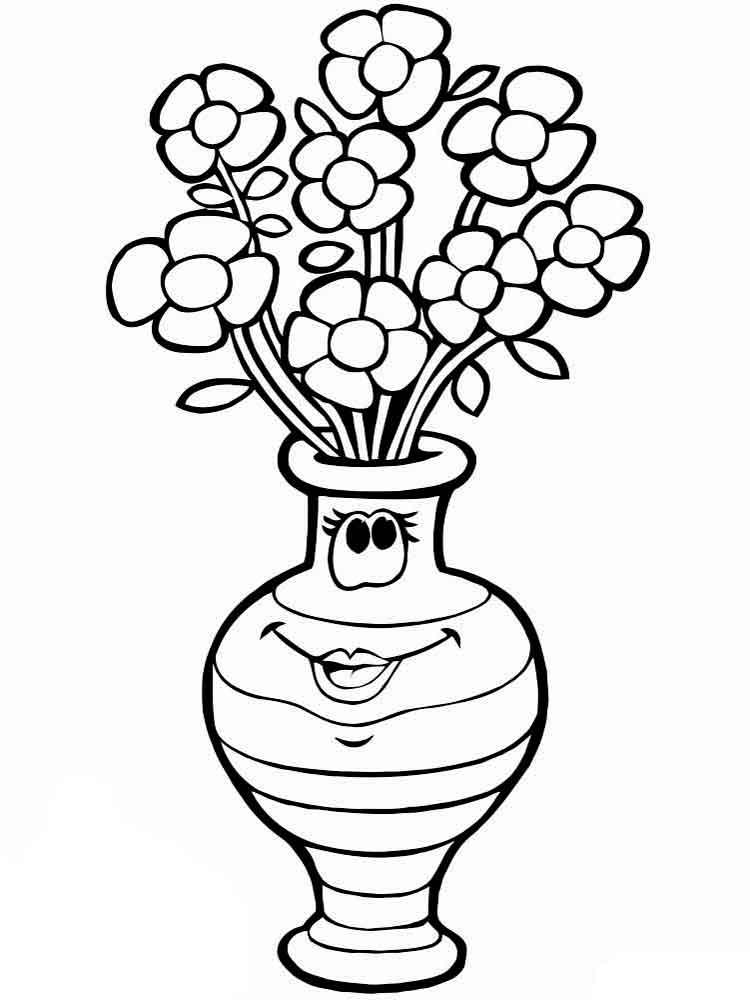 картинки черно белые для распечатки вазы вроде этого, сем