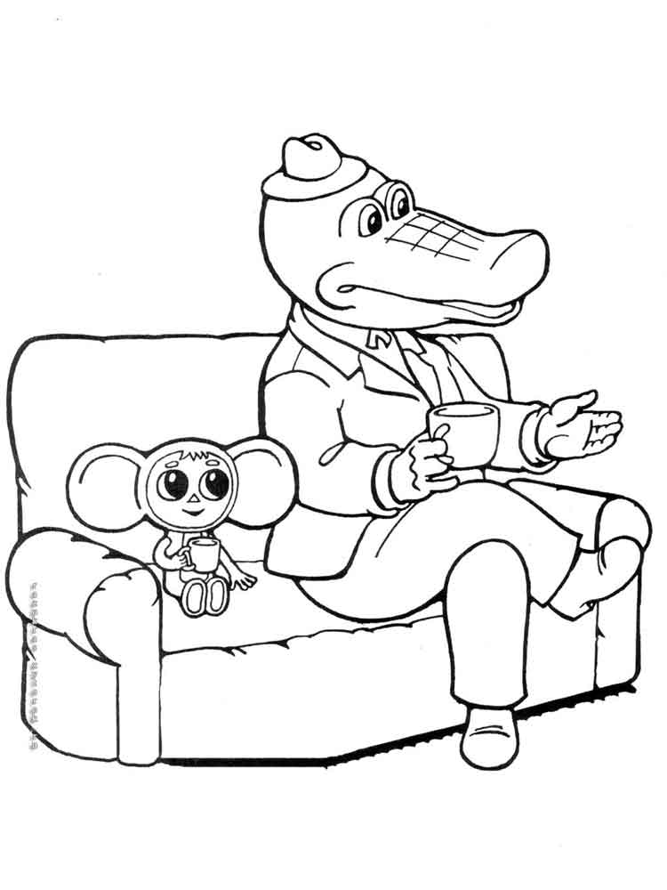 raskraski-krokodil-gena-7