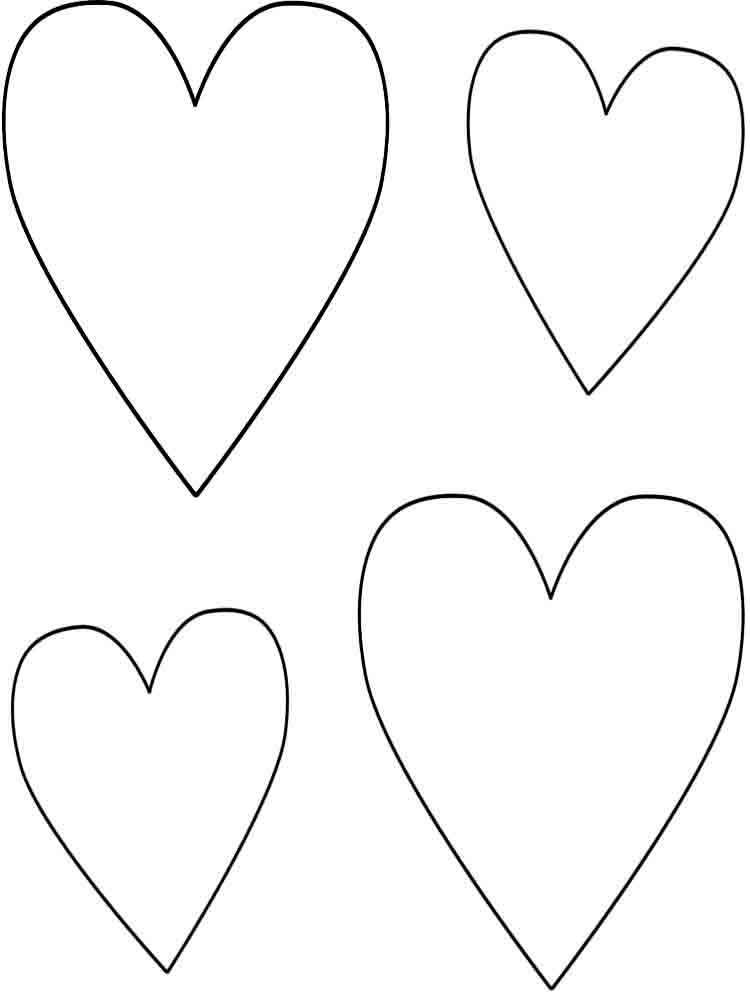 Новому, сердце рисунок распечатать