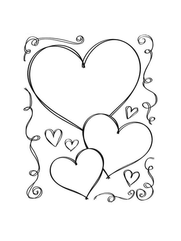 Сердце рисунок распечатать