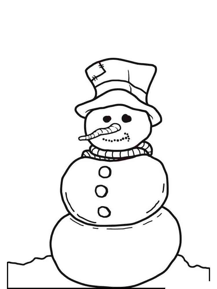 Распечатать картинки снеговика