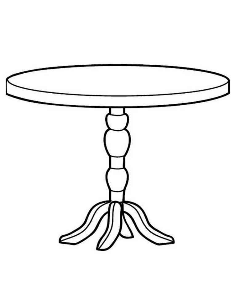 как нарисовать стол картинки известно