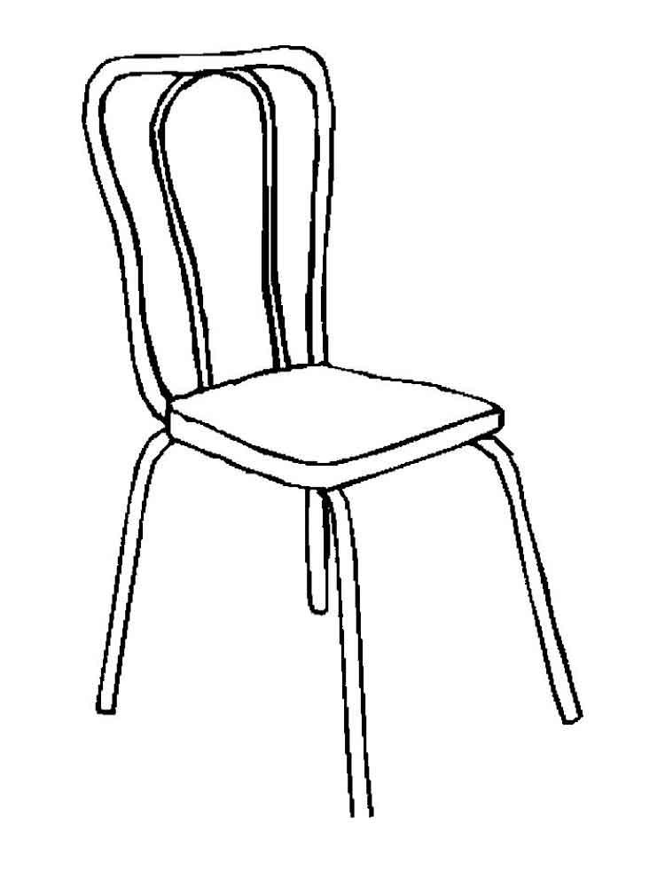 картинка стульчик для раскраски
