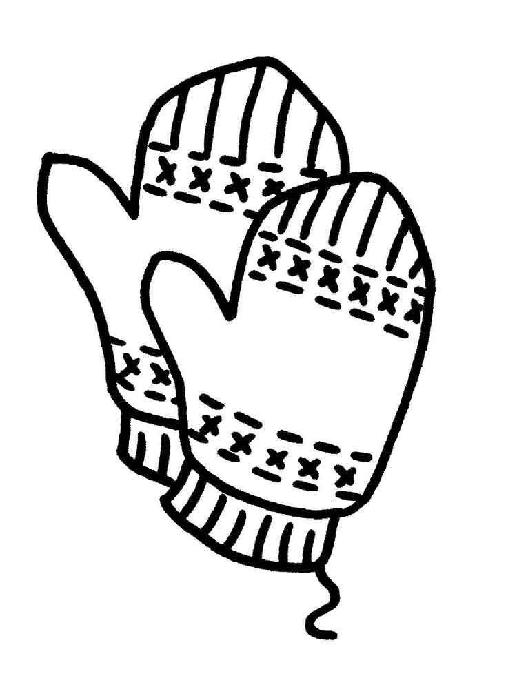 картинки для раскрасок варежки сша