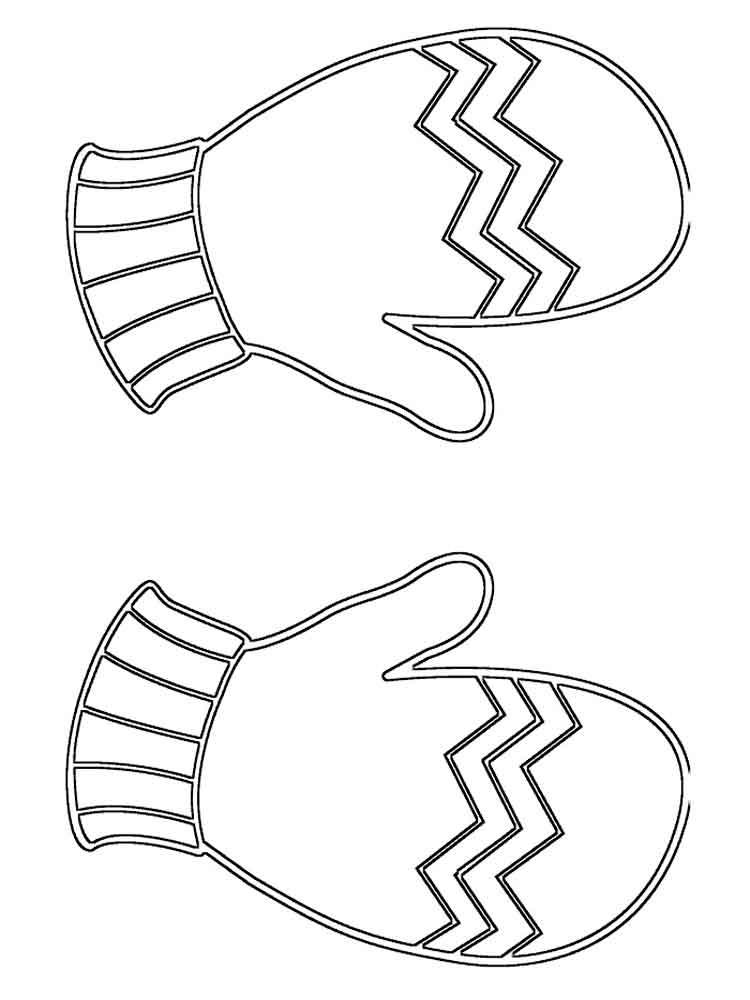 прогулка рисунок рукавички с узором торты