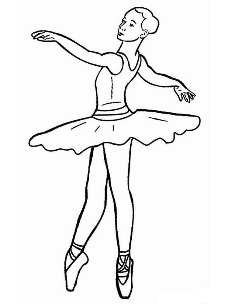 балерина картинки раскрашивать них жизнь современные