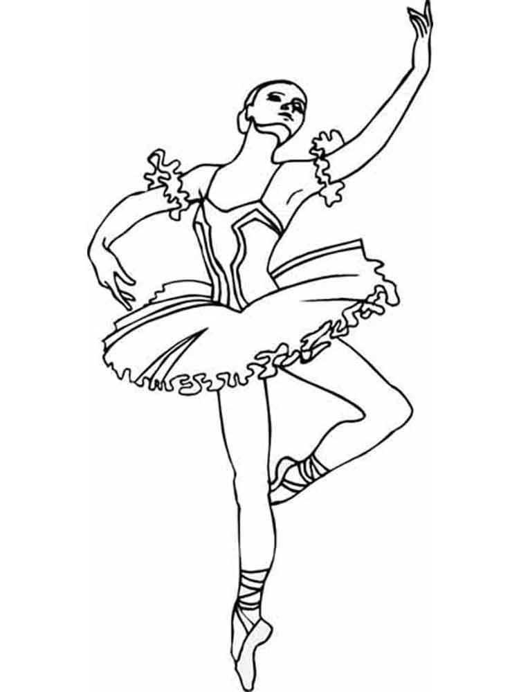 раскраска балета лебединое озеро