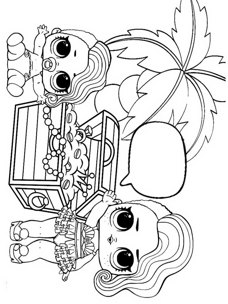 Раскраски Куклы ЛОЛ для девочек. Скачать или распечатать ...