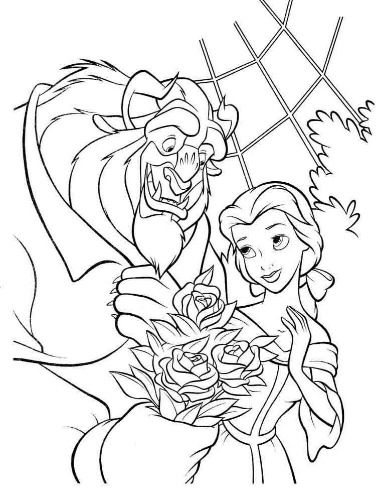 Картинки принцессы диснея из раскрасок