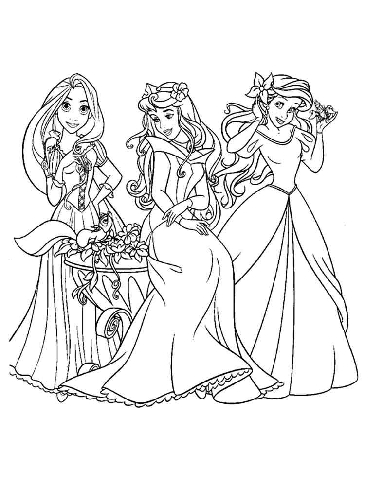 Картинки для распечатки принцесс диснея