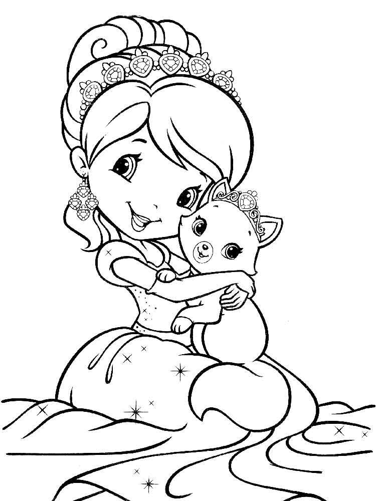 Раскраски с принцессами распечатать картинки
