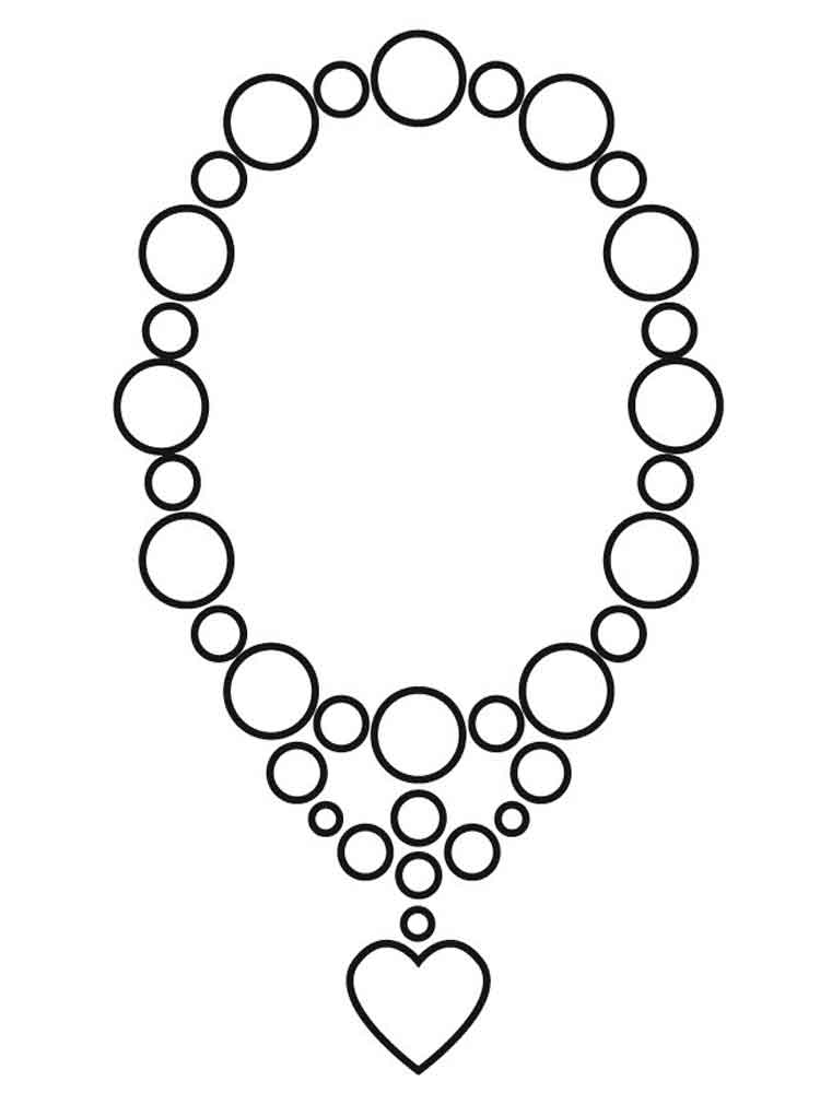 раскраска ожерелье распечатать интересует фрахт, приобретение