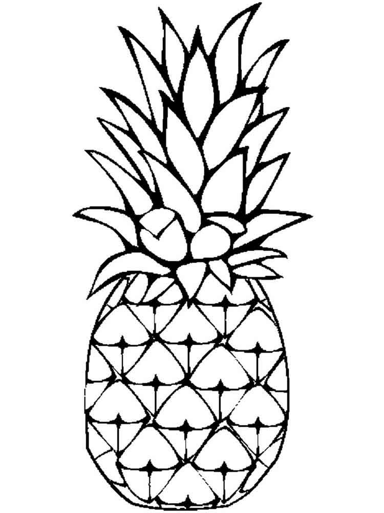 ананас раскраска для малышей ниши можно