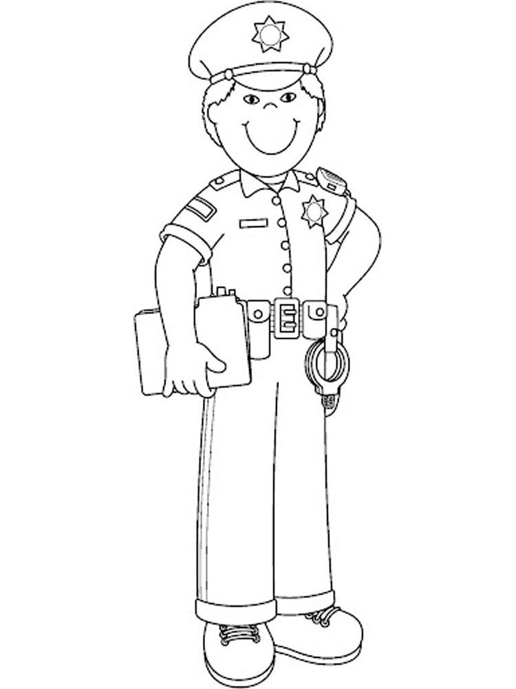 Милиционер раскраска картинки