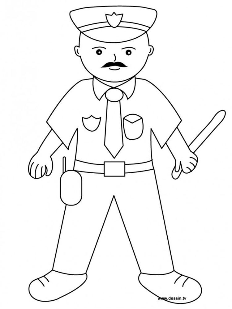 Рисунок полицейского для детей карандашом поэтапно