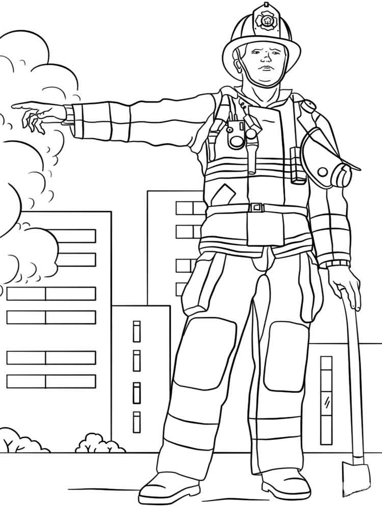 дел картинки раскраски что необходимо пожарнику сходит