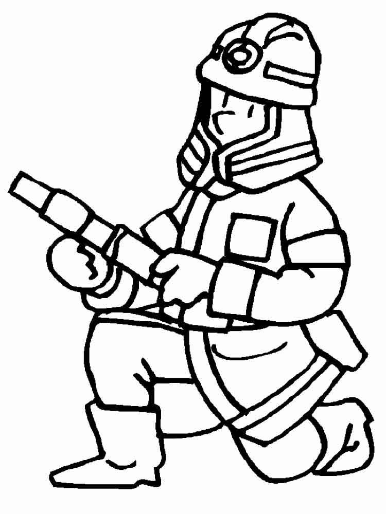 Пожарники рисунки карандашом