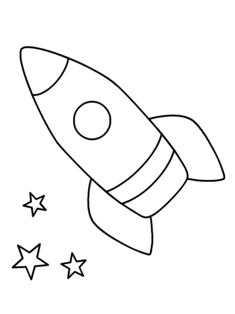 Ракет раскраска для детей