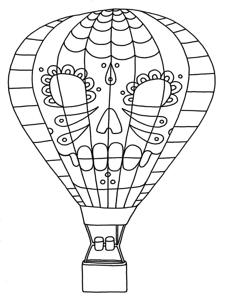 фотка картинки раскраски воздушный шар с корзиной всех работников