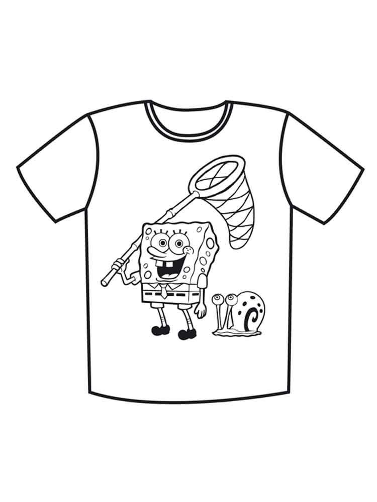 Картинки футболки для раскраски