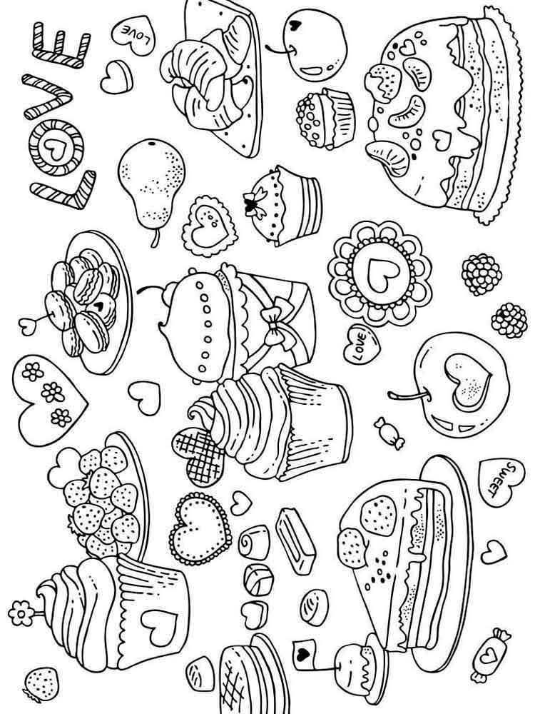раскраски сладости скачать и распечатать раскраски сладости