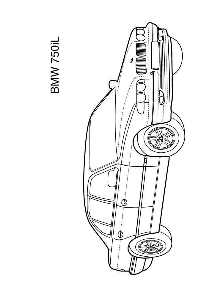 Раскраски машины БМВ. Скачать и распечатать раскраски БМВ