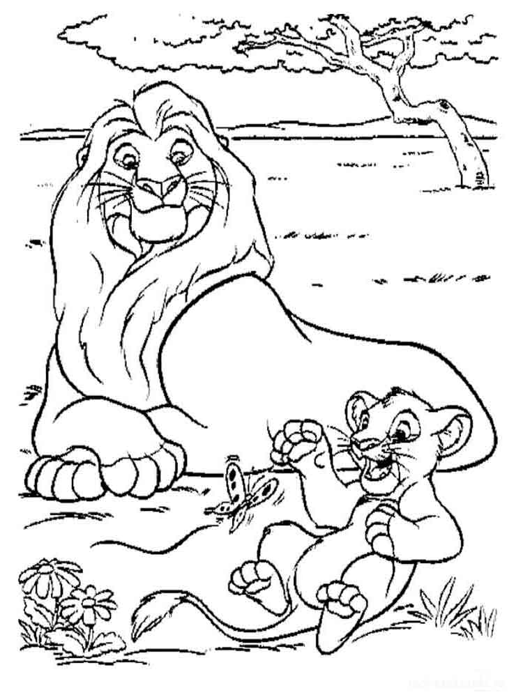 Раскраски Король лев. Скачать или распечатать раскраски ...