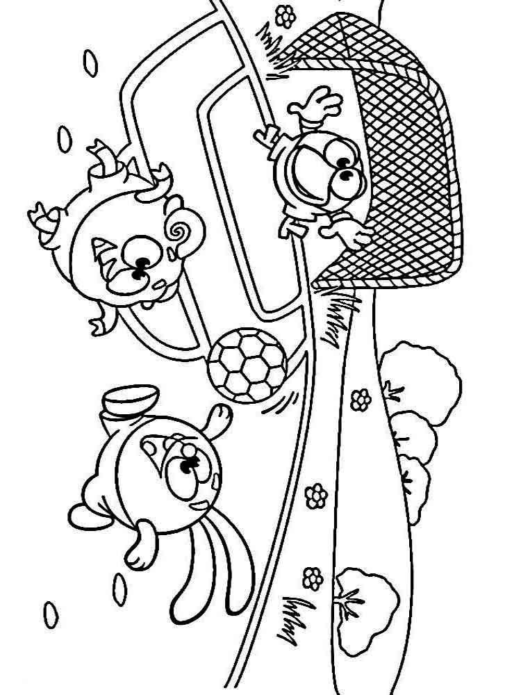 раскраски смешарики скачать или распечатать раскраски смешарики