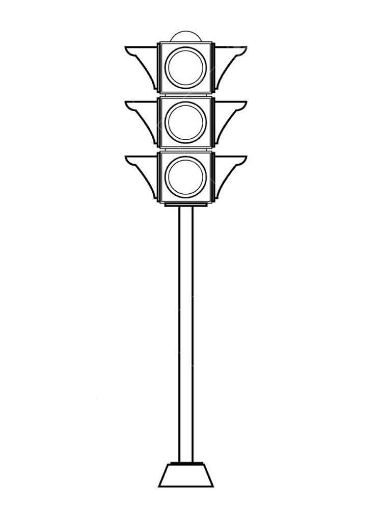 Картинки светофора раскраска для детей, стоят