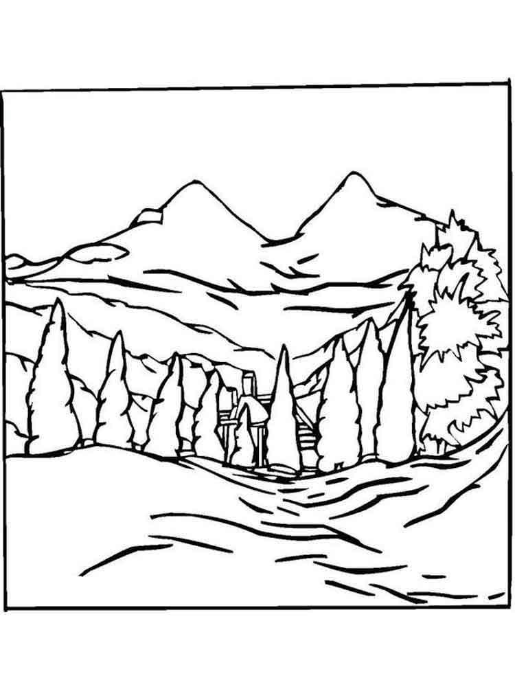 раскраски пейзаж скачать и распечатать раскраски пейзаж