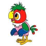 Раскраски Попугай Кеша