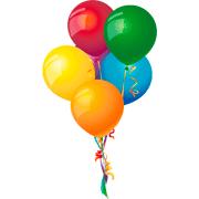 Раскраски Воздушные шарики