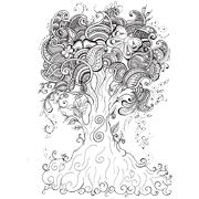 Раскраски Антистресс Деревья