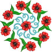 Раскраски Мандала Цветы