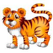 Раскраски Тигр