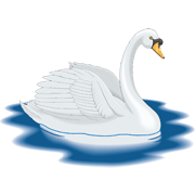 Раскраски Лебедь