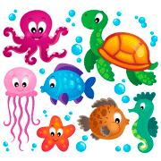 Раскраски Морские обитатели