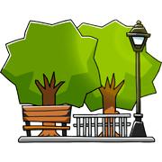 Раскраски Парк