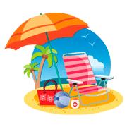 Раскраски Пляж