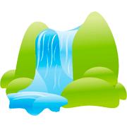 Раскраски Водопад