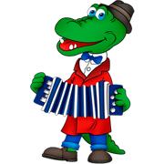 Раскраски Крокодил Гена