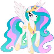Раскраски Принцесса Селестия
