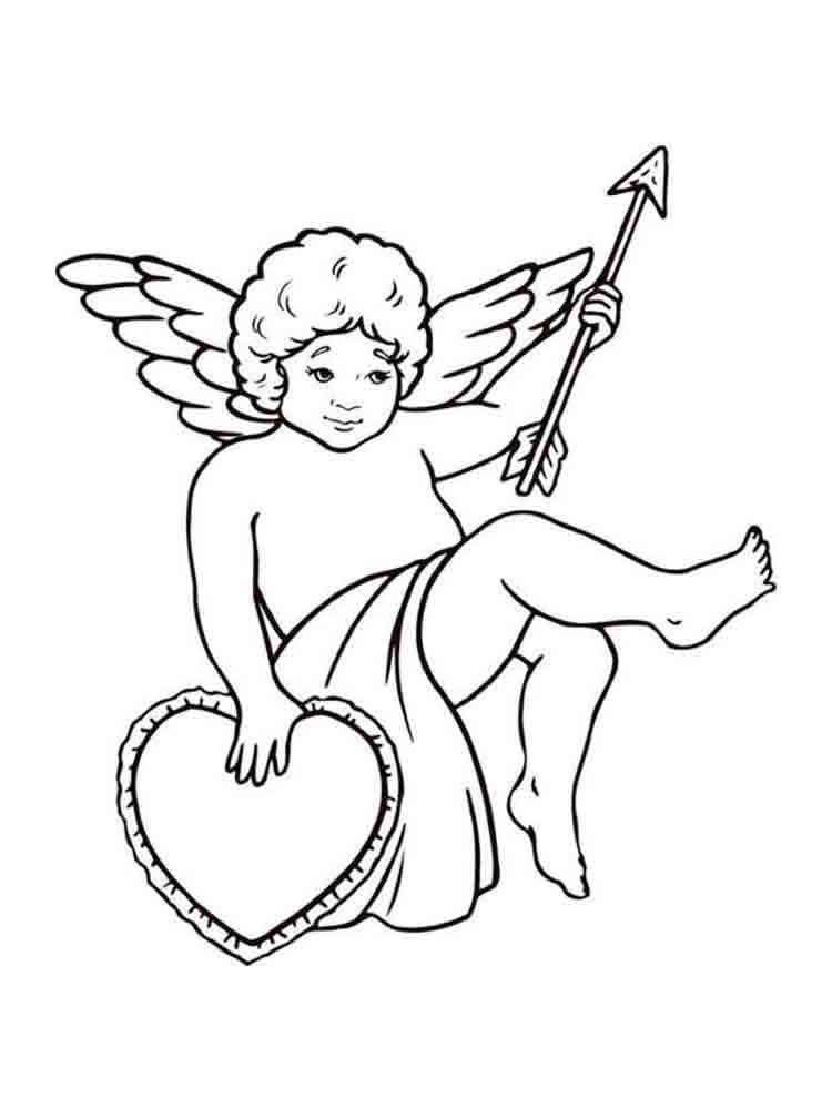 Картинки купидонов и ангелов для распечатки черно белые, открытки днем