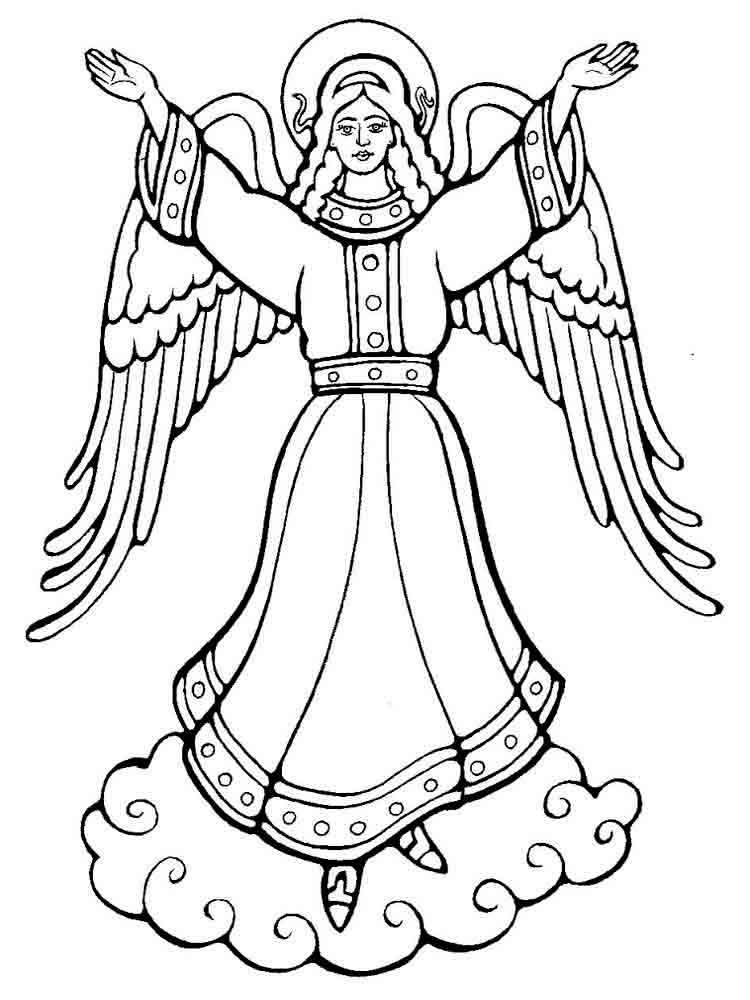 Рождественские ангелы картинки для распечатки