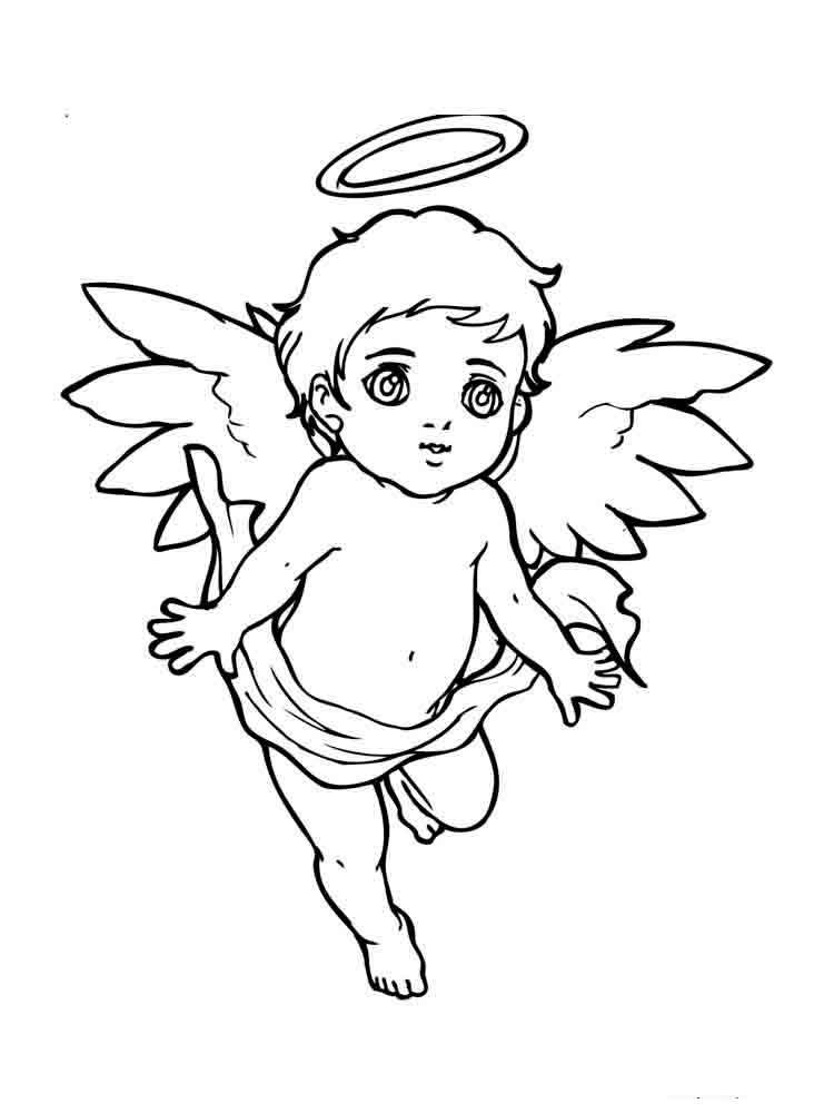 Открытка своими, картинка ангелочка раскраска