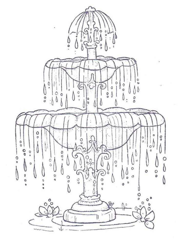 раскраски фонтан скачать и распечатать раскраски фонтан
