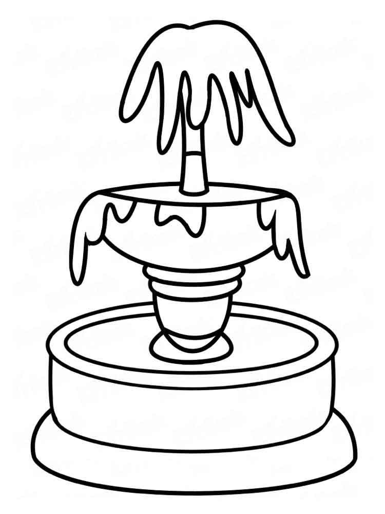 Картинки фонтан для срисовки