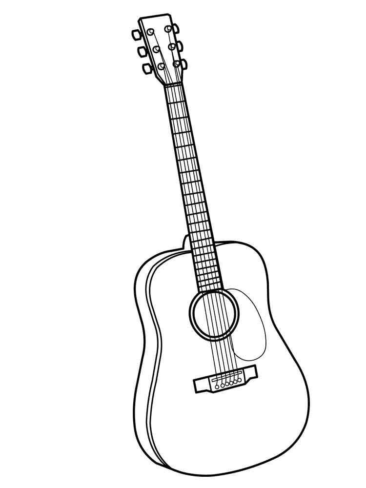 Гитара картинки распечатать для